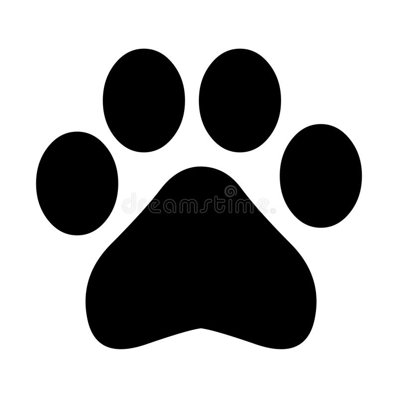 Paw Print royalty free illustration