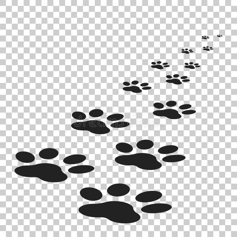 Paw print icon vector illustration isolated on isolated background. Dog, cat, bear paw symbol flat pictogram. vector illustration