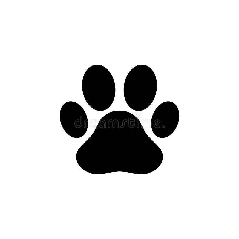 Paw Print icon. Vector symbol. Sign stock illustration