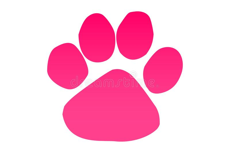 Paw print icon on white background. Illustration design. stock photography