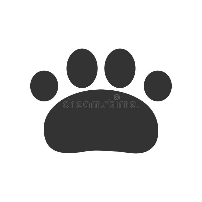 Paw Print Illustration de vecteur, animal de Paw Print illustration stock