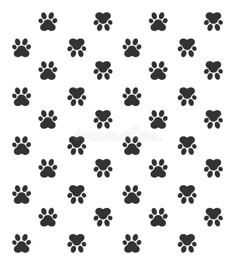Paw Print Illustration de vecteur, animal de Paw Print illustration libre de droits