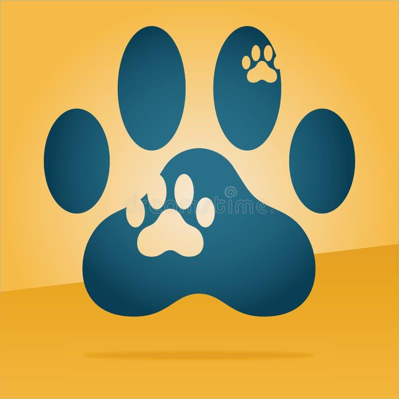paw print logo stock vector illustration of animal logo 72941143 rh dreamstime com paw print logo mardi gras beads paw print logo dog food