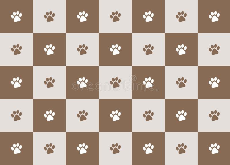 paw print pattern