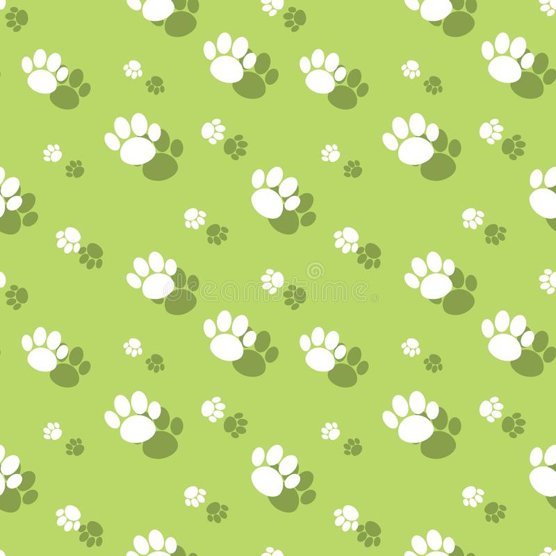 Paw Print Seamless Wildnature Pattern animal stock de ilustración