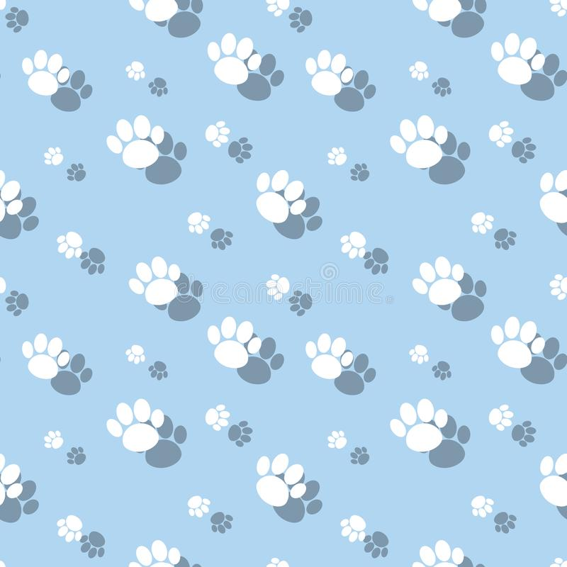 Paw Print Symbol Seamless Pattern animal libre illustration