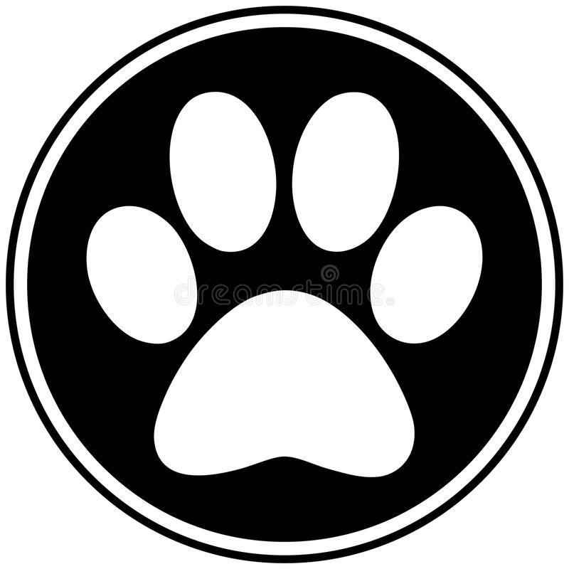 Paw Print Symbol. A vector illustration of a Paw Print Symbol royalty free illustration