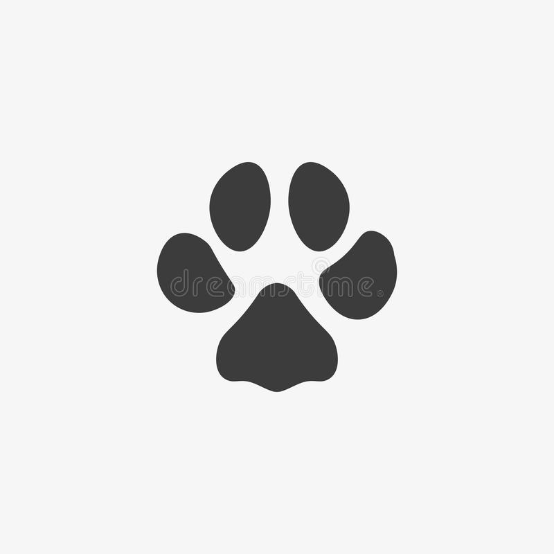 Paw print vector icon. Color illustration paw print vector icon stock illustration