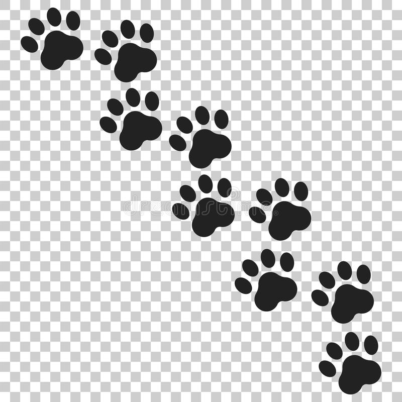 Paw print vector icon. Dog or cat pawprint illustration. Animal. Silhouette royalty free illustration