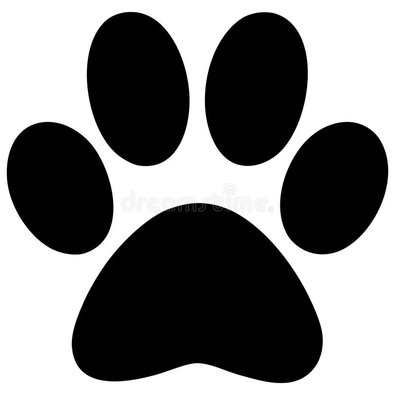 Paw Print. A vector illustration of a Paw Print royalty free illustration