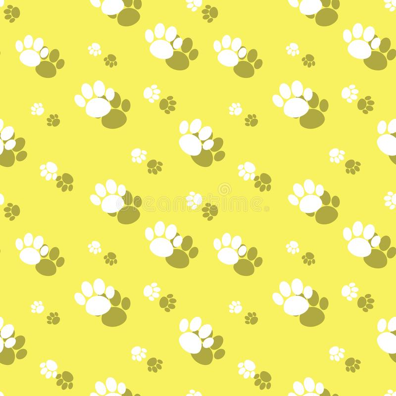 Paw Print Wildlife Seamless Background animal ilustração royalty free