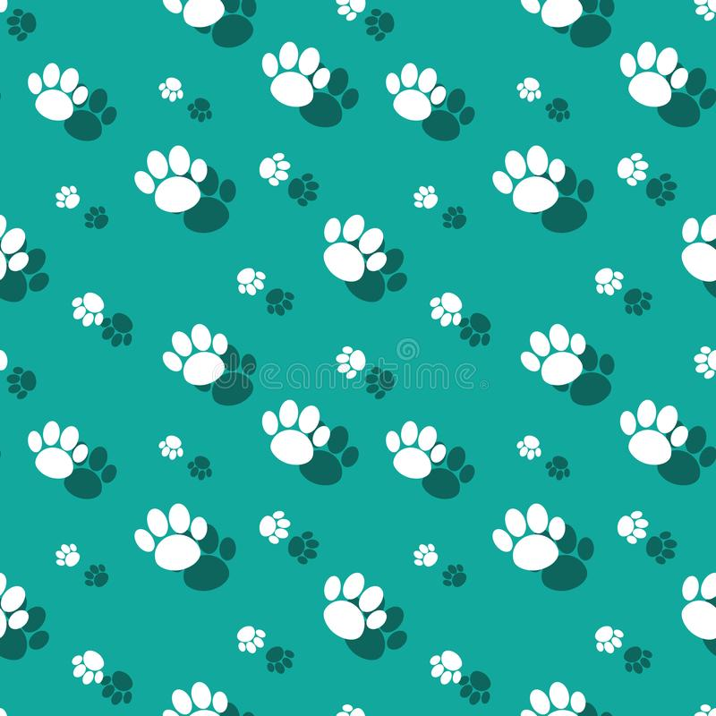 Paw Print Wildnature Seamless Pattern animal stock de ilustración