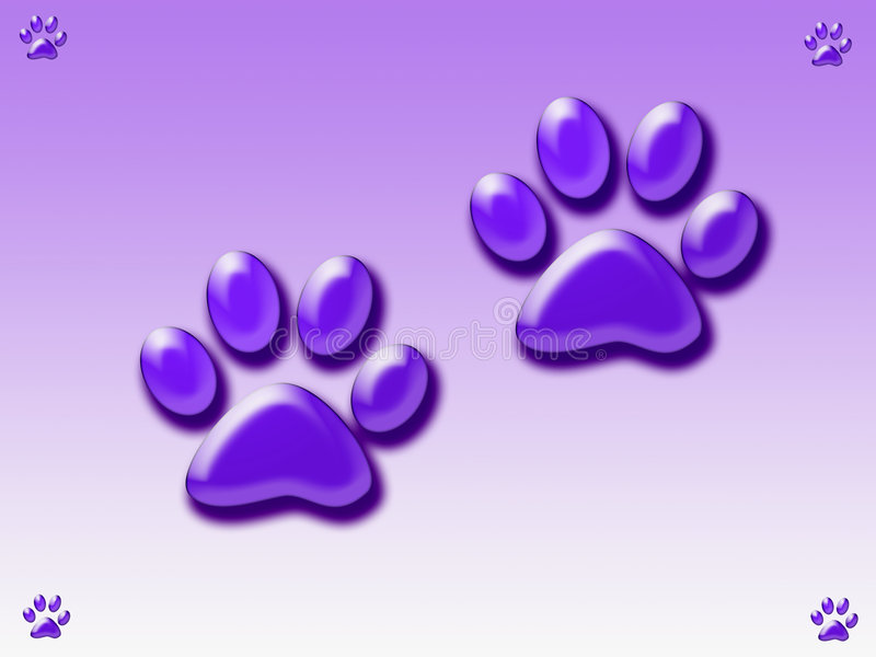 Download Paw prints stock illustration. Illustration of animal - 3514773