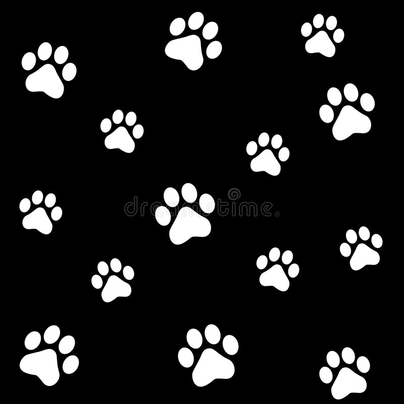 Paw prints royalty free stock image