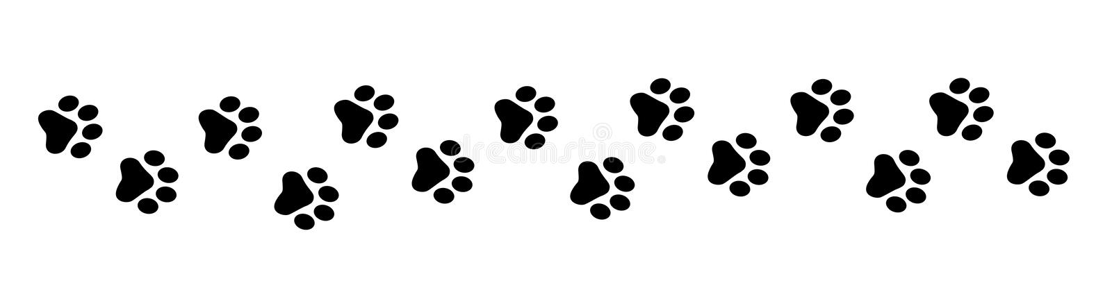 Paw prints stock photography