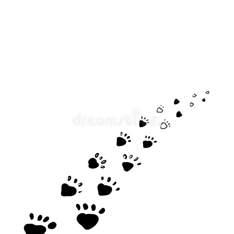 Paw Prints animal stock de ilustración