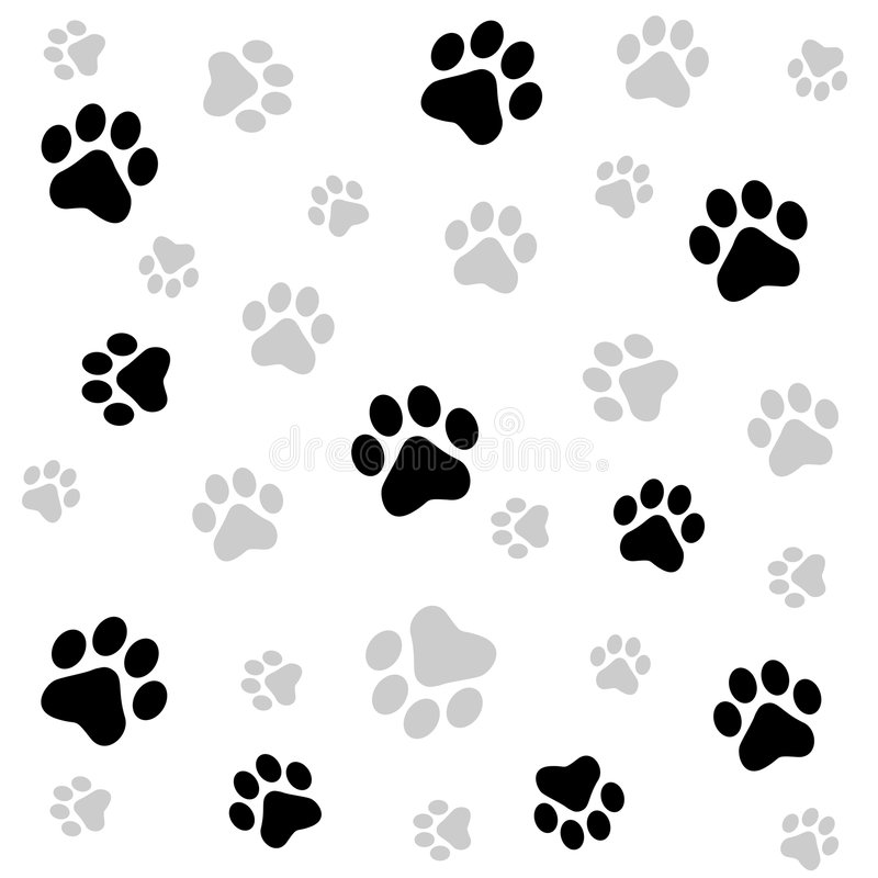 Download Paw prints background stock vector. Illustration of artwork - 6936093