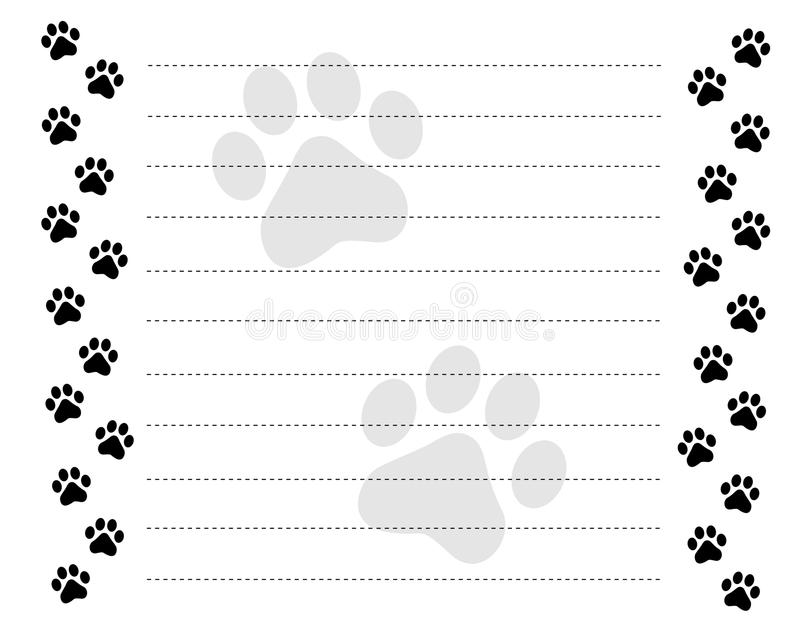 Download Paw prints border stock vector. Image of animal, empty - 17179336