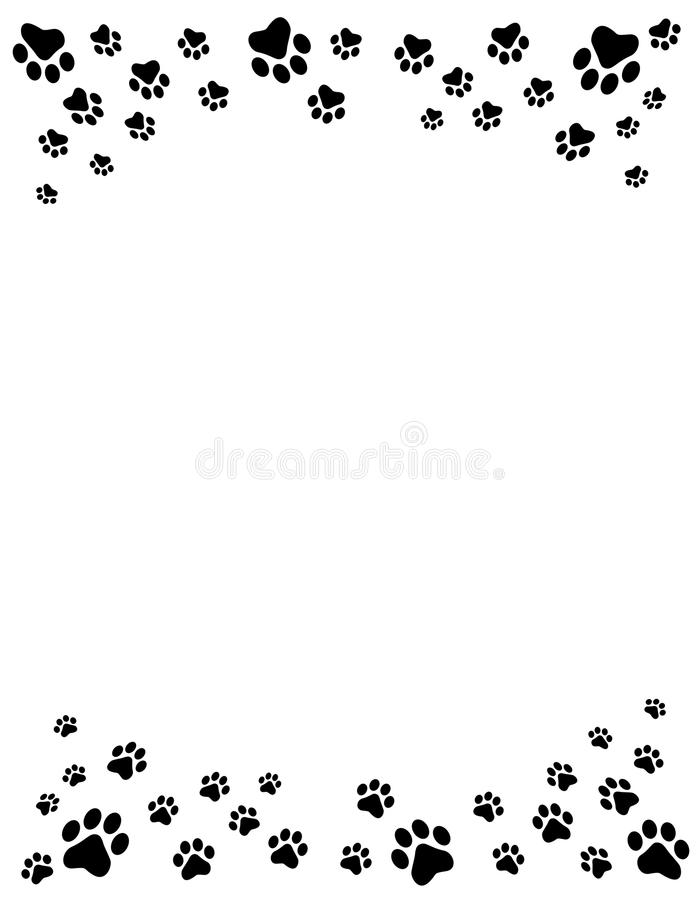 Download Paw prints border stock vector. Image of borders, icon - 21615239