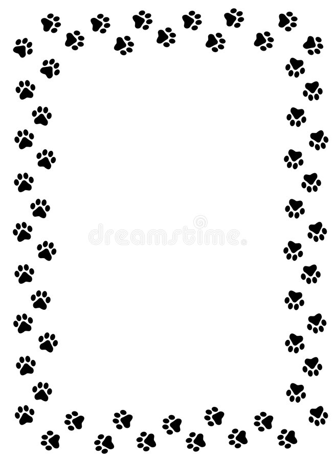 paw prints border stock vector illustration of greeting 5099175 dog paw clip art png dog paw clip art free