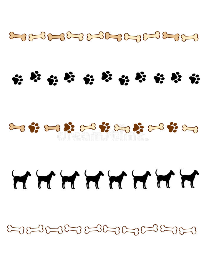 Free Paw Prints Border / Divider Royalty Free Stock Images - 17257149