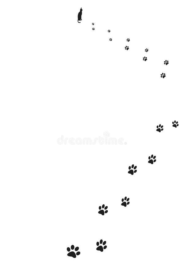 Download Paw prints of cat stock illustration. Illustration of animal - 4890352