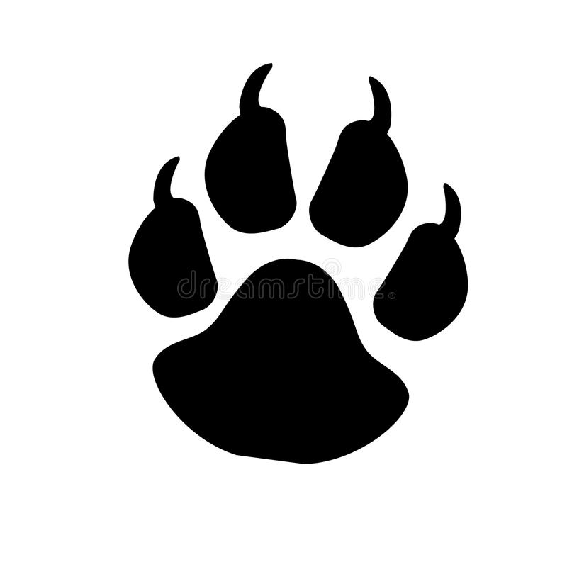 Paw Prints logo Illustration de vecteur Illustration d'isolement de vecteur Noir sur le fond blanc Illustration d'ENV illustration stock