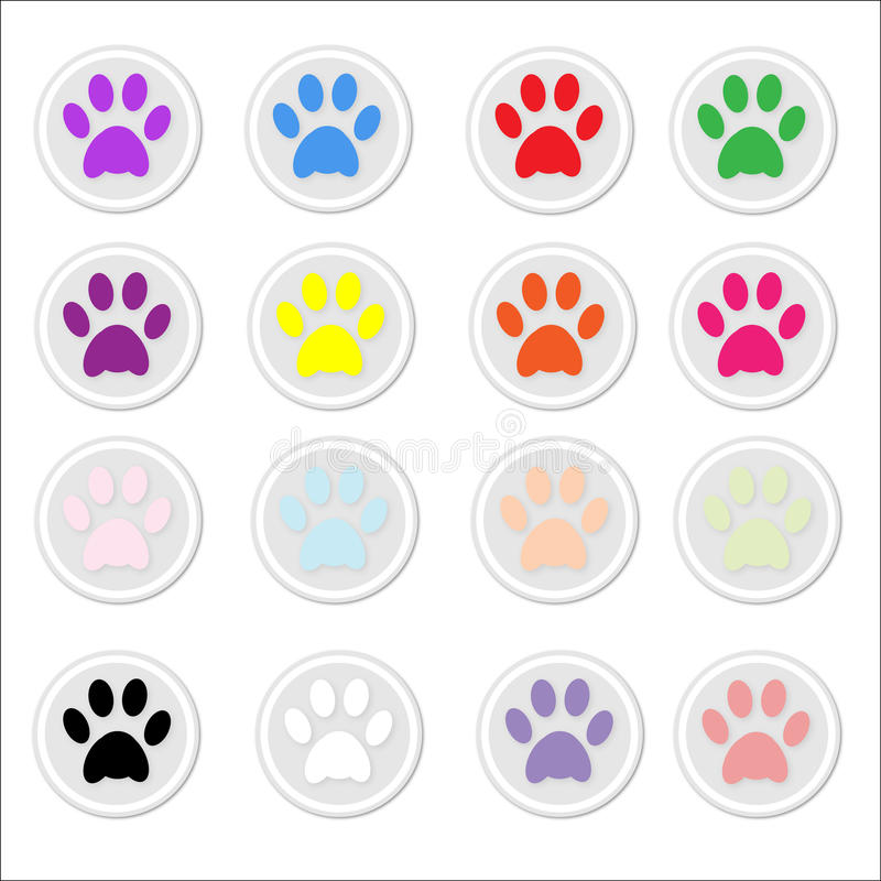 Download Paw Prints on stickers stock vector. Illustration of illustration - 13263546