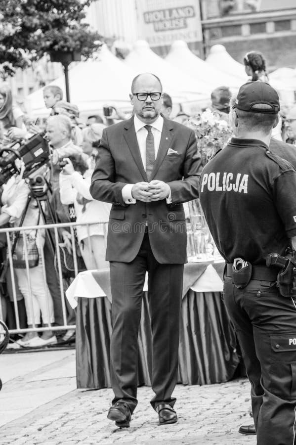 Pawel Bogdan Adamowicz in zwart-witte kleuren royalty-vrije stock fotografie
