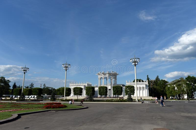 Pawilon «kultura «przy rosjanina Powystawowym centrum w Moskwa zdjęcia stock