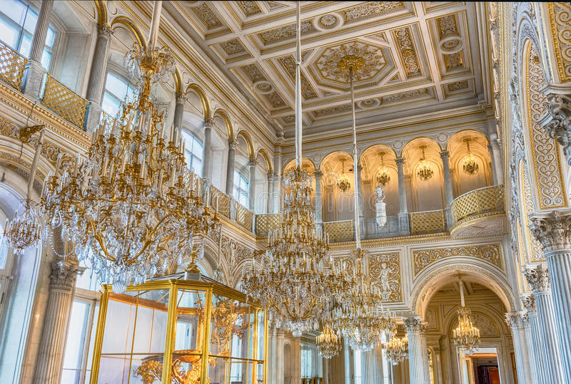 Pawilon Hall, eremu muzeum, St Petersburg, Rosja fotografia royalty free