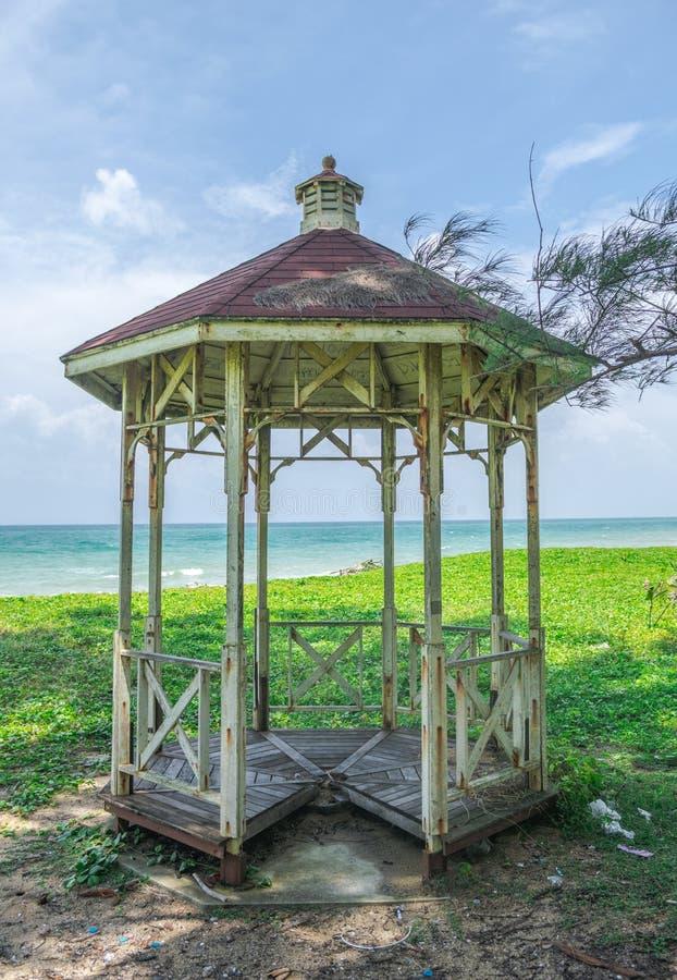 Pawilon przy plażą zdjęcia royalty free