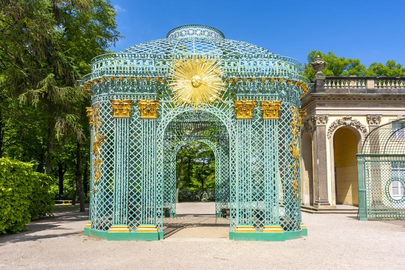 Pawilon w Sanssouci parku, Potsdam, Niemcy obrazy stock