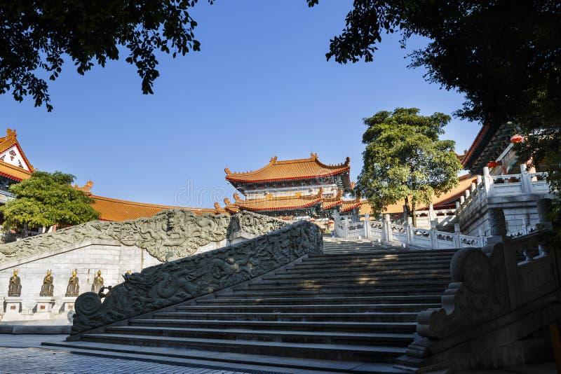 Pawilon w yuanxuan taoist świątynny Guangzhou, Chiny obraz stock