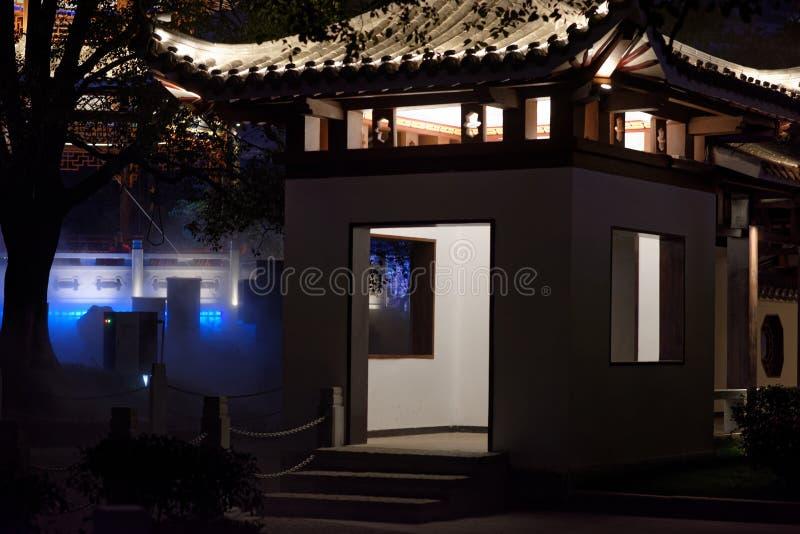 pawilonu i tarasu pawilonu parka noc zdjęcia royalty free