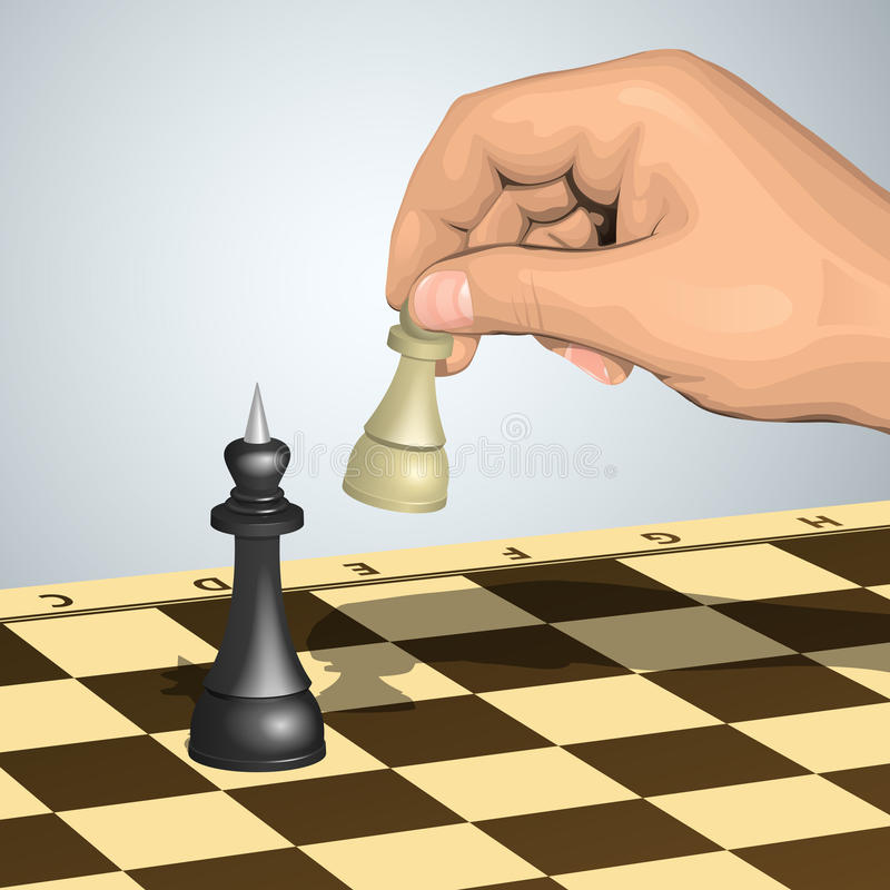 Download Pawn attack stock vector. Image of board, chessboard - 18083665