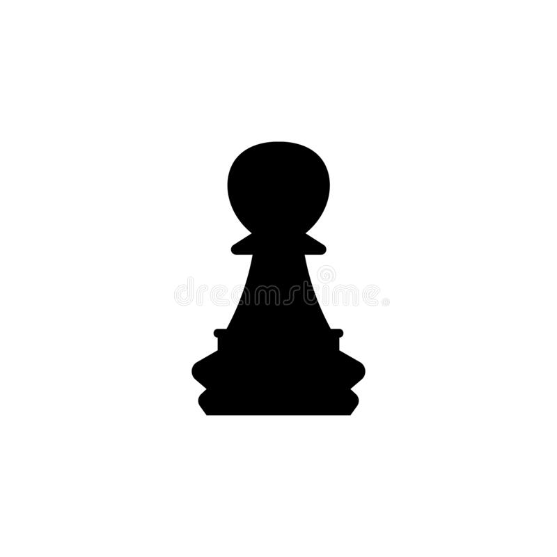 Free Pawn Chess Piece Black Sign Icon. Vector Illustration Eps 10 Stock Photo - 178689620