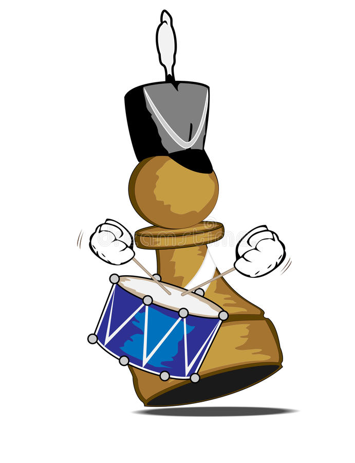 Download Pawn The Drummer Royalty Free Stock Photography - Image: 12626427