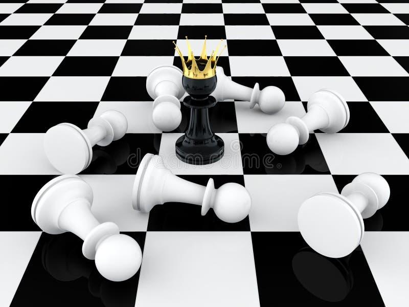 Download Pawn king stock illustration. Illustration of idea, battle - 24897991
