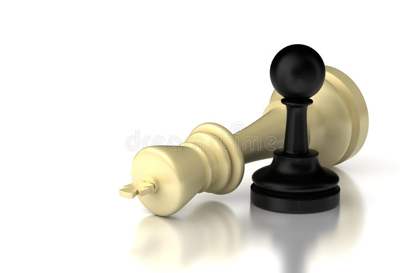 Pawn and King stock images