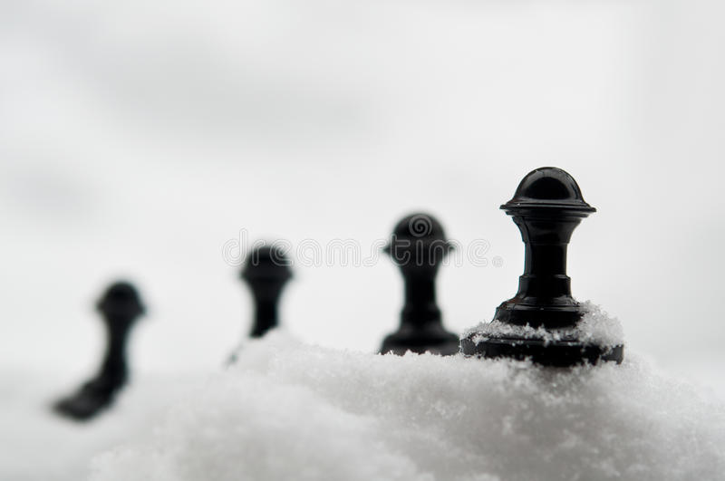 Download Pawn on snow stock image. Image of cold, competition - 28808803