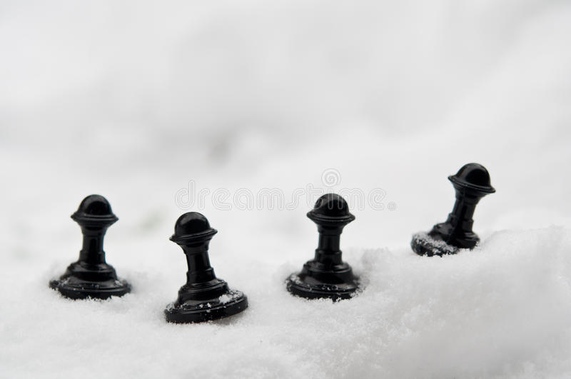 Download Pawn On Snow Stock Photo - Image: 28808830