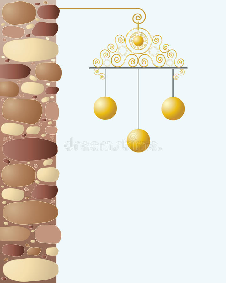Download Pawnbrokers sign stock vector. Image of credit, stones - 21585050