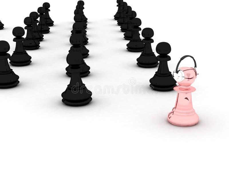 Pawns stock photo