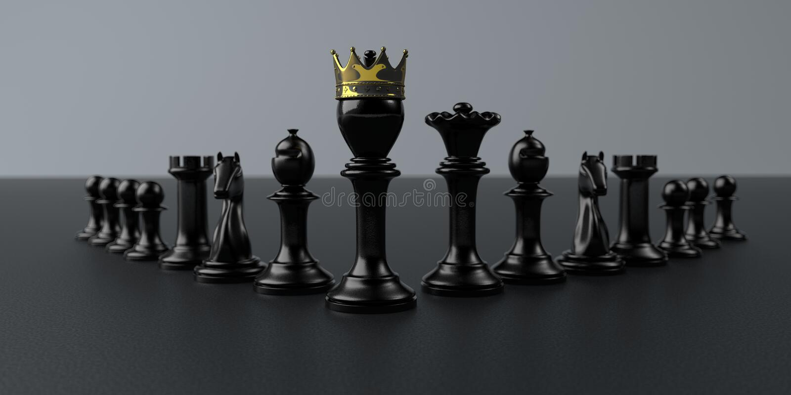 Pawns Leadership stock photo