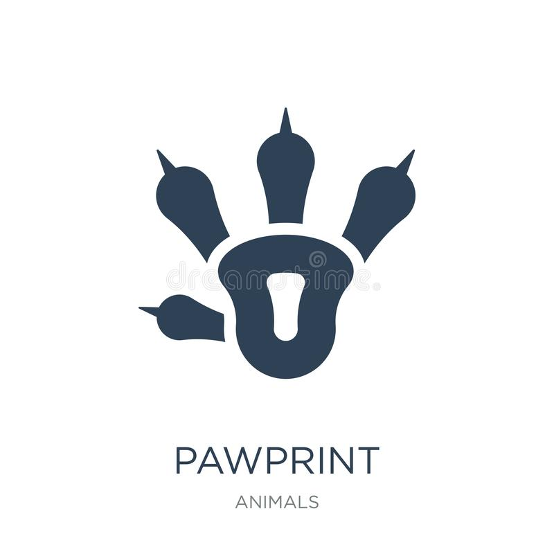 pawprint icon in trendy design style. pawprint icon isolated on white background. pawprint vector icon simple and modern flat royalty free illustration