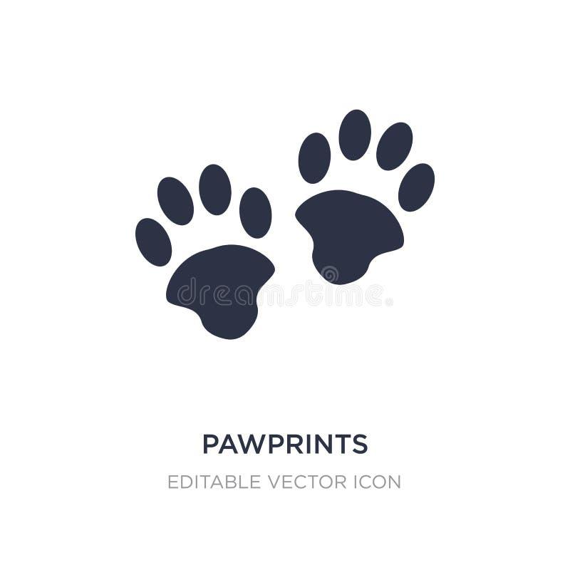 pawprints εικονίδιο στο άσπρο υπόβαθρο Απλή απεικόνιση στοιχείων από την έννοια ζώων διανυσματική απεικόνιση