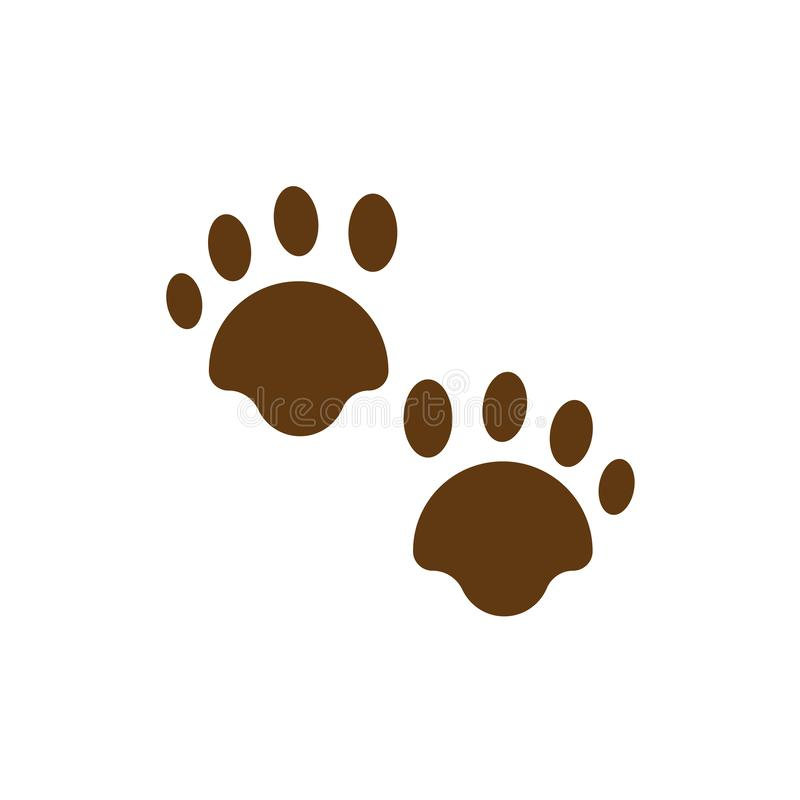 Pawprints σημάδι και σύμβολο εικονιδίων διανυσματικό που απομονώνονται στο άσπρο υπόβαθρο διανυσματική απεικόνιση