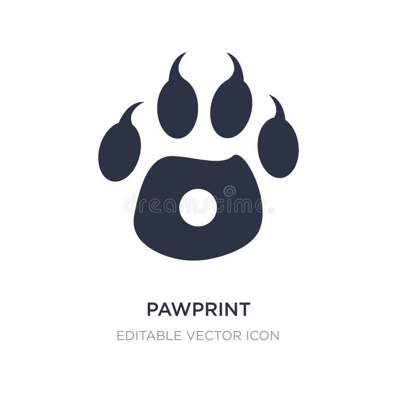 pawprintsymbol på vit bakgrund Enkel beståndsdelillustration från djurbegrepp stock illustrationer