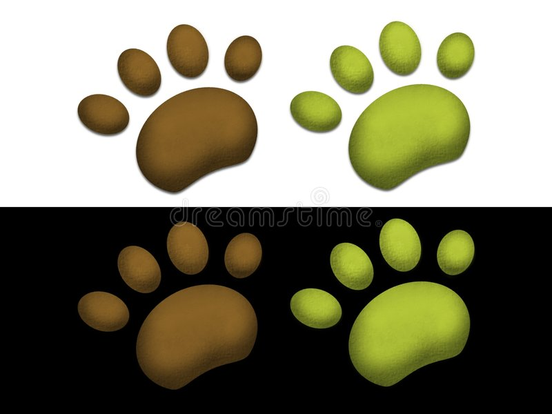 Paws royalty free illustration